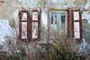 DSC_2817 Verlassenes Wohnhaus an der Flutgrabenstraße in Mansfeld - alte Fenster mit Holzläden; hohes Wildkraut. (stadt + land) Tags: bilder impressionen sehenswürdigkeiten fotos mansfeld landkreis mansfeldsüdharz harz sachsenanhalt bergbau kupfergewinnung silbergewinnung bermannsstadt luther lutherstadt verlassenes wohnhaus flutgrabenstrase alte fenster holzladen holzläden hohes unkraut wildkraut