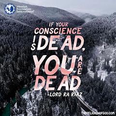 Quote of the Day: If Your Conscience... (Mehdi/Messiah Foundation International) Tags: awakening conscience death divine divinity goharshahi life lifelessons lordrariaz riazahmedgoharshahi spiritualawakening spirituality