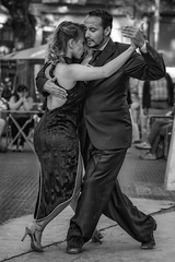 La Cumparsita (karinavera) Tags: city night photography urban ilcea7m2 buenosaires tango street argentina blackandwhite santelmo people dancing