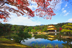 Kinkakuji Temple (The Golden Pavilion) in Kyoto, Japan (Patrick Foto ;)) Tags: ancient architecture art asia autumn background beautiful beauty buddhism buddhist building culture fall famous forest garden gold golden heritage historic japan japanese kinkakuji kyoto lake landmark landscape leaf leave maple nature park pavilion pond reflection religion religious sky temple tokyo tourism travel tree zen kyōtoshi kyōtofu jp