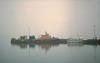 Lifeboat Hazy (IMG_20mod) (AngusInShetland) Tags: lifeboat lerwick shetland smallboatharbour haze scotland zenitttl zenit agfavista200 rnli helios44258