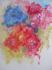 Primary Colors (SandraNestle) Tags: watercolor pleinair wetinwet sandranestle art original abstract fun joy everymomentcounts aquarelle acuarela wasserfarbe