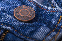 Macro Mondays – Buttons and Bows (Kev Gregory (General)) Tags: macromondays buttonsandbows jean jeans denim levi strauss button fastener fastening brass metal pressed stud kev gregory canon 7d macro mondays 100 100mm f28 usm ef challenge theme