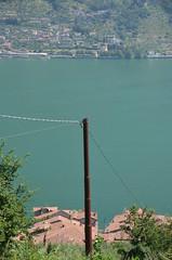 telegraph pole on the lake (Hayashina) Tags: monteisola italy telegraphpole lake htt