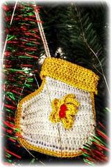 Handmade for Christmas (Chris C. Crowley) Tags: handmadeforchristmas crochet bootie ornament christmastree