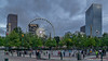 Atlanta, GA: Skyview and the Olympic Rings Fountains at Centennial Olympic Park (nabobswims) Tags: atlanta centennialolympicpark downtownatlanta fountain ga georgia hdr highdynamicrange nabob nabobswims olympicrings photomatix sel18105g skyview sonya6000 us unitedstates