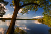 warm blues (JimfromCanada) Tags: blue warm sunset park tree nature water lake pretty serene quiet garden rbg ontario hamilton dundas canada royalbotanicalgardens