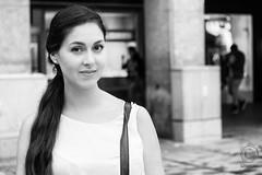 MUNICH Portraits, part 5: Cloudy Marienplatz (mkarwowski) Tags: street girl woman streetportrait munich travel industar502 m42 monochrome blackandwhite canon eos 80d canoneos80d eos80d portrait