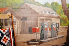 Wally's Service Station on cenment blocks 0542 (Tangled Bank) Tags: visiting andy griffith museum mount airy north carolina old classic heritage vintage history historical tv television program