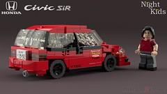 Shingo Shoji's Honda Civic EG6 SiR II [Myogi NightKids] [2] (initial_dvache) Tags: ldd lego blender mecabricks car 6wide honda