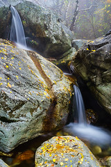 double waterfalls (Plamen Troshev) Tags: waterfall autumn mountain landscape leafs river central balkan double new nature explore