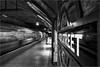 Leaving Baker Street (Phil Durkin) Tags: london architecture bakerstreetstation buildings underground platform train single person walking moving setting off