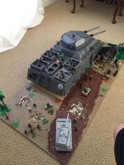 Back shot (totenkopf lego) Tags: lego german brickmania brickarms ww2 tank moc battle p1000 lankreuzer