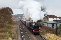 Belated Black 5 (Articdriver) Tags: stanier steam locomotive railway train black5 45212 chertsey surrey heritage cathedralsexpress