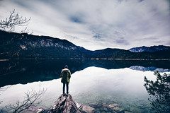 _/ Dreaming \_ (Tim RT) Tags: tim rt eibsee lake hill hills alps sea wood woodland landscape travel love outdoor sky clouds man people beautiful awesome life lifestyle mirror relection water rock rocks art flick visual inspired hypebeast new picture 2017 canon 6d 6d2 6dmarkii mark 2 canon1635mm f4 is usm lens nature bayern bavaria garmisch grainau