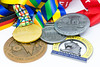 Medaillen der Major Marathons Berlin, Chicago, Boston, New York und London (wuestenigel) Tags: whitebackground stockphoto money geld business geschäft finance finanzen currency währung wealth reichtum achievement leistung symbol financial finanziell illustration desktop investment investition bank savings ersparnisse economy wirtschaft cash kasse market markt gold growth wachstum paper papier noperson keineperson