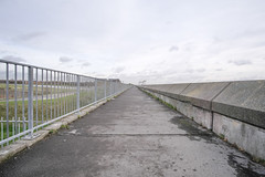 Fort Road (Crusty Streets) Tags: fort road tilbury thurrock essex england uk sea wall seawall defence railing path