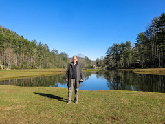 A hike during the Thanksgiving Holiday in Cashiers (JavaJoba) Tags: grass lake pond water jackkennard sky forest trees woods park cashiers southcarolina