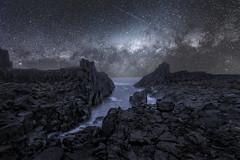 Bombo Quarry (Bill Thoo) Tags: bombo bomboquarry kiama nsw newsouthwales australia stars milkyway drama quarry waves rocks sea ocean dark sony a7rii ilce7rm2 batis zeiss 18mm