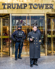 NYPD Police Guard with Doorman at Trump Tower, New York City (jag9889) Tags: 2017 20171201 575fifthavenue 5thavenue architecture armed building cop donaldtrump entrance fifthavenue finest firstresponder guard house lawenforcement manhattan midtown ny nyc nypd newyork newyorkcity newyorkcitypolicedepartment officer outdoor police policedepartment policeofficer protection security sign text trumptower usa unitedstates unitedstatesofamerica door jag9889