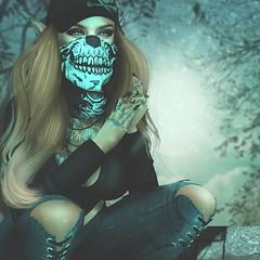 Bad Girls World (Arwen Clarity) Tags: nativeurban facemask neckwarmer hat avi avatar maitreya mesh life secondlife second sl 2ndlife people pose lelutka blueberry realevil real evil native urban foxcity skull badgirl