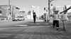 Safe crossing (Eric Flexyourhead) Tags: nakanoshima 中之島 kitaku 北区 osaka osakashi 大阪市 kansai 関西地方 japan 日本 city urban street streetscape streetphotography japanese people kid child kids children kodomo cute kawaii かわいい candid blackwhite bw monochrome 169 olympusem5 panasoniclumix714mmf40
