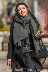 Groovin' In The Sunshine (corneliusreed) Tags: woman streetportrait phone flatironarea flickr newyork unitedstates us