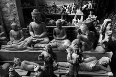 Idols (Madhusudanan Parthasarathy) Tags: mahabalipuram idol making shop crafts statues god lord tamilnadu eastcoastroad india incredibleindia bla blackandwhite nikon d750 madhusudananparthasarathy