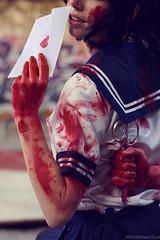 Yandere chan by Megan Coffey - Starbuxx Yandere Simulator Cosplay (WhiteDesertSun) Tags: yandere simulator chan megan coffey starbuxx worst girl ruuuuuuuuuuuuuuuun senpai notice me kyaaa gary urban decay urbex abandoned stabby loli red high school blood scissors murder yanchan portrait