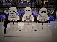 three in a row (SM Tham) Tags: asia malaysia selangor sunwaypyramid shoppingmall interior christmas2016 starwars display lego stormtroopers