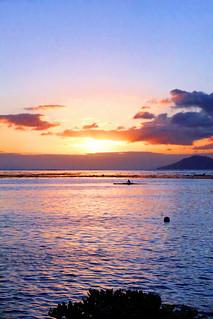 Sunset portrait à Tahiti