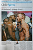 Make war, not love (Canadian Pacific) Tags: 2017aimg2414 newspaper sports sport globe gobeandmail globemail boxing boxer shirtless man white black conormcgregor floydmayweather