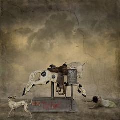 Ride Old Paint (WayneToTheMax) Tags: horse ride fall woman despair trial buck dog paint life cloud suffer danger mechanical amusement reach endure chance