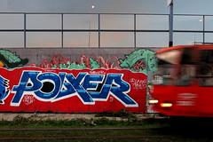 Polxie (Walls of Belgrade) Tags: belgrade beograd streetart serbia spraypaint wall tramline graffiti mural polxie sunset