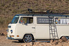 Private Beach (Eric Arnold Photography) Tags: vw volkswagen bus van kombi transporter wagon 1971 71 bay window roof rack siren white gray grey logo emblem magazine shoot photoshoot camper commercial phoenix az arizona lake pleasant park cactus canon 80d windshield sky