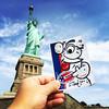 Statue of Liberty (Question Josh? - SB/DSK) Tags: sticker stickers streetart label228 statueofliberty voted josh nyc