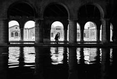 Venezia, Arsenale (Matteo Melchior) Tags: acqua water venice venezia italy italia bw biancoenero monocolore architettura arsenale darsena