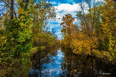 Poetry Of Autumn - Поэзия Осени (Igor Danilov Philadelphia) Tags: poetry autumn beauty gold blue without words nj november nikon igordanilov sky wood water river tree canal clouds nikkor 24‑70mm f28g