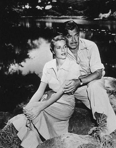 Grace Kelly, Clark Gable, Mogambo, 1953