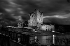 "Ross castle B&W ("" Kamil Malecki Photography "") Tags: killarney ireland landscape castle park bw night nightscape clouds"