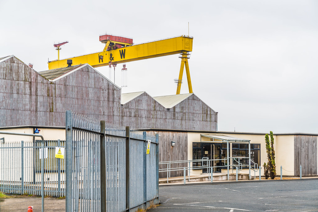 VIEW OF THE FAMOUS CRANES [SAMSON AND GOLIATH IN BELFAST]-134121