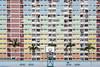 Urban Rainbow (renan4) Tags: urban architecture hongkong asia travel trip nikon d800 renan4 renan gicquel symetry graphic perspective cityscape city building colors rainbow basket basketball court palmtree