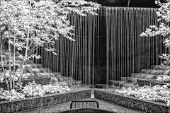 Fluid Emotion (danielgweidner) Tags: architecture chicago vacation fountain waterfall water photoart photoshopcs6 niksilver nikcolorefx nikviveza monochromatic blackwhite magnificentmile emotion lifepixel infrared infraredconversion landscape timeexposure