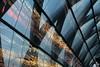 Time tunnel (Elbmaedchen) Tags: architektur architecture bahnhof glasdach spiegelung reflektion reflection glass überkreuz glasröhre trainstation elbbrücken u4