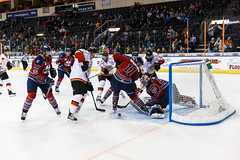 "Kansas City Mavericks vs. Kalamazoo Wings, November 29, 2017, Silverstein Eye Centers Arena, Independence, Missouri.  Photo: © John Howe / Howe Creative Photography, all rights reserved 2017 • <a style=""font-size:0.8em;"" href=""http://www.flickr.com/photos/134016632@N02/38713479422/"" target=""_blank"">View on Flickr</a>"
