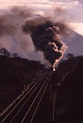 5407+Ethel Climb Towards Blea Moor Tunnel. 25/11/1989 (briandean2) Tags: 5407 bleamoor settlecarlislerailway steam railways uksteam ukrailways