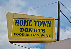 Home Town Donuts, Oakland, CA (Robby Virus) Tags: oakland california ca eastbay hometown home town donuts food beer wine liquor fried chicken sign signage