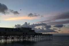 Peace at the end of the day (karen leah) Tags: aberystwyth ceredigion wales twilight dusk sea water sky clouds pier