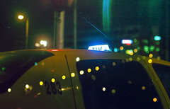 taxi (Coughh_Syrup) Tags: late night taxi yellow car windows bokeh city urban atmosphere road drive
