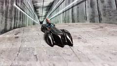 Batmobile Racing Out of the Batcave. (ManOfYorkshire) Tags: batman batcave concrete exit entrance tunnel diorama hotwheels toy model car auto automobile detailed diecast 164 scale backdrop